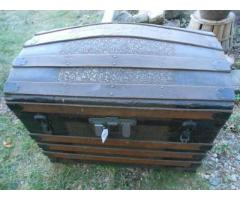 4 antique trunks/necco crate